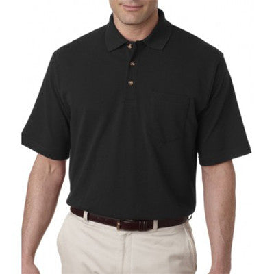 UltraClub Classic Pique Polo with Pocket - EZ Corporate Clothing  - 2