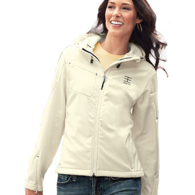 Port Authority Ladies Textured Hooded Soft Shell Jacket - EZ Corporate Clothing  - 1