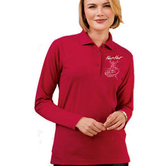 Port Authority Ladies Silk Touch Long Sleeve Polo - Printed - EZ Corporate Clothing  - 1