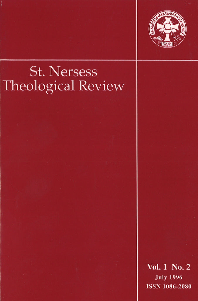 ST. NERSES THEOLOGICAL REVIEW