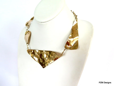 Asymmetric Gold Necklace | Asymmetrical Necklace