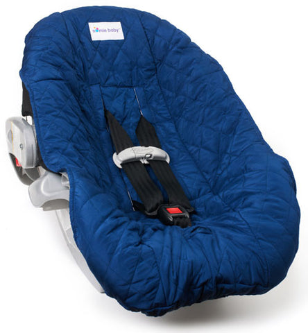 Navy Blue Car Seat Cover for Infants and Babies