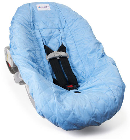 Light Blue Car Seat Cover for Infants and Babies