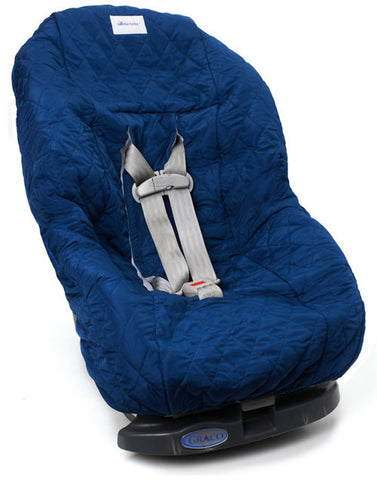 Navy Blue Toddler Car Seat Cover for Kids