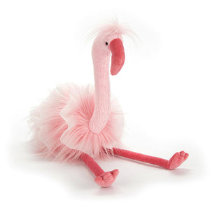 Pink flamingo soft toy (Jellycat) - Send A Toy