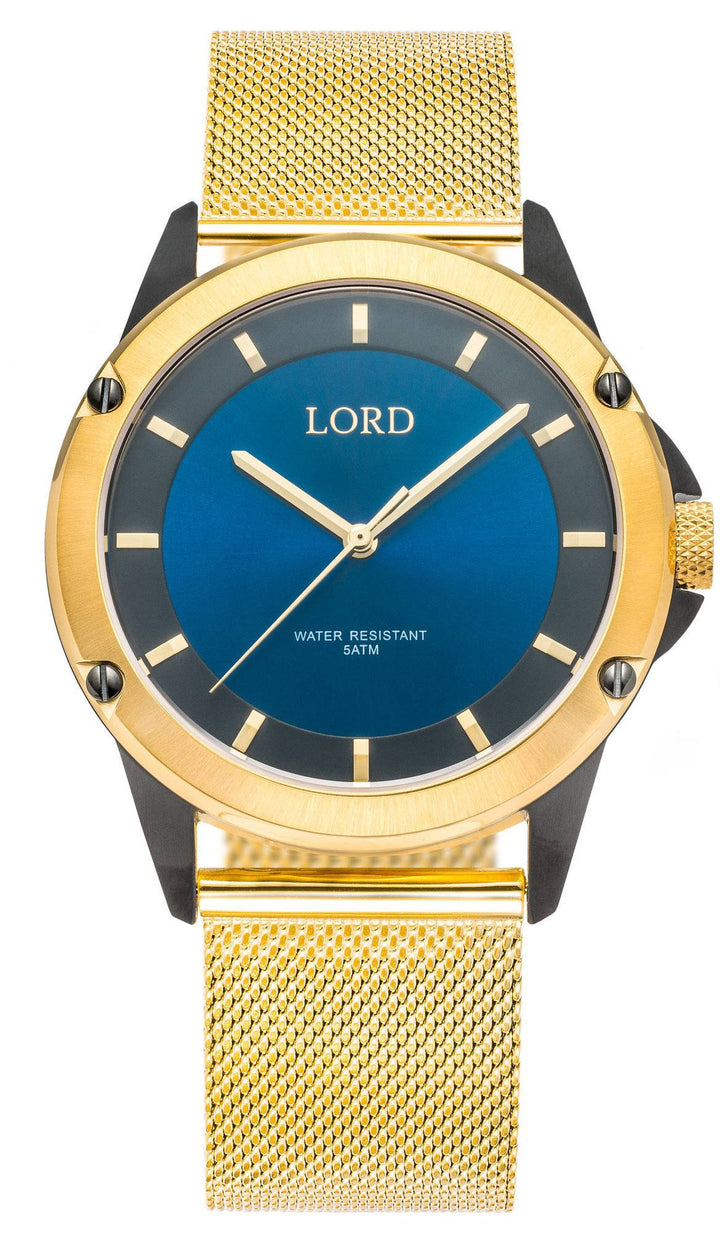 Blue-Black-Gold-Watch-Men's-Watch-Lord-Timepieces