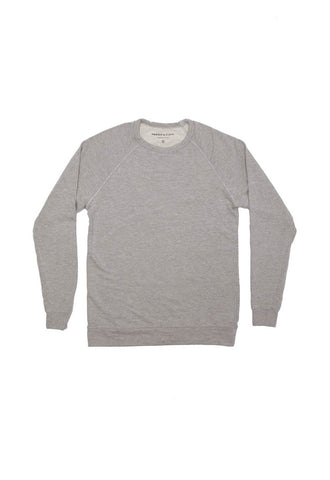 Heather Gray Lightweight French Terry Sweater