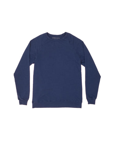 Navy Lightweight French Terry Sweater