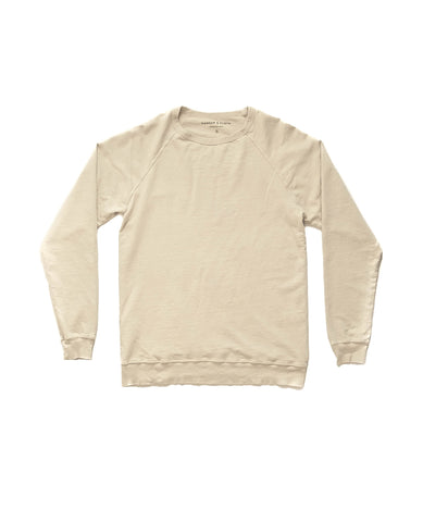 Natural Lightweight French Terry Sweater