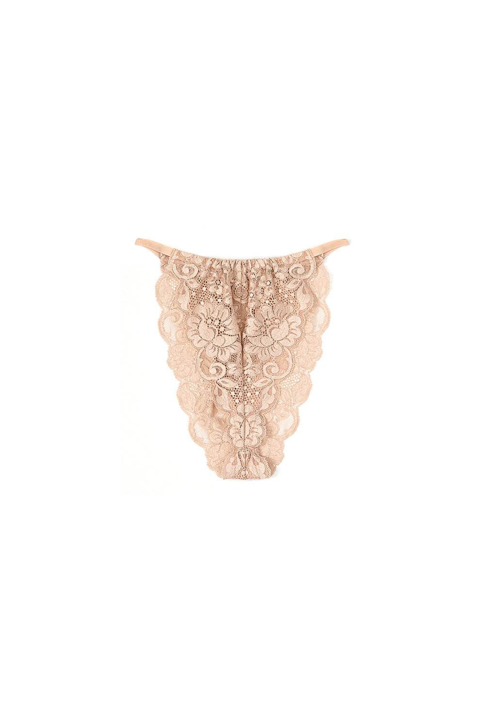nude high waisted vintage-inspired lacy panty