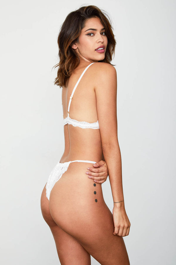 white high waisted vintage-inspired lacy panty