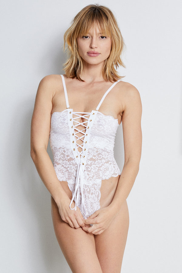 Reversible Spinster Bodysuit | Blanc
