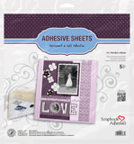 Scrapbook Adhesives 12x12 Adhesive Die Cut Sheet - 5 pack