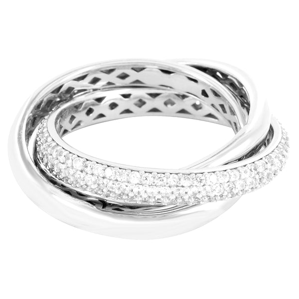 Custom Twisted Entangled design Sterling Silver Ring Band