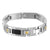 White Black Gold Finish Mens Stainless Steel Nut Bolt Style Bracelet