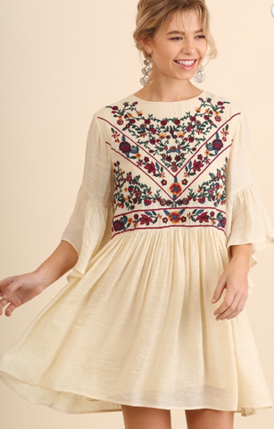 Boho Dress with Embroidery