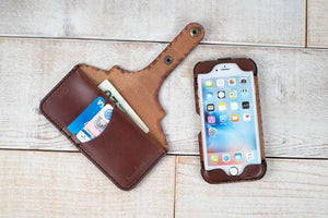 Hand and Hide Custom Leather Phone Case for iPhone 8 in Chestnut