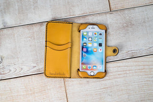 Hand and Hide iPhone 7 or 8 Leather Phone Case | Yellow