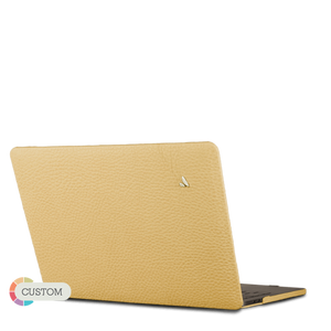 "Custom MacBook Pro Touch Bar 15"" Leather Case - Vajacases"