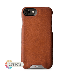 Customizable Grip - iPhone 8 Leather case - Vajacases