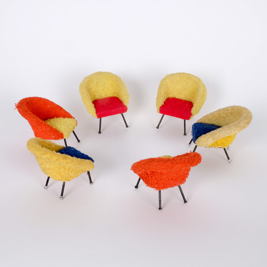 Colourful Dolls house Chairs