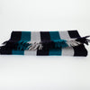 Black/ Grey/ Green Stripey Scarf