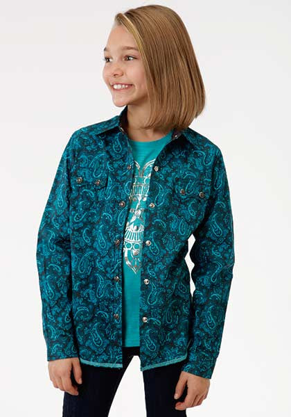 Roper Girls River Paisley Long Sleeve