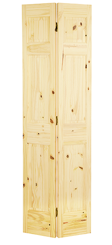 6 Panel Knotty Pine Single Hip Bifold Door