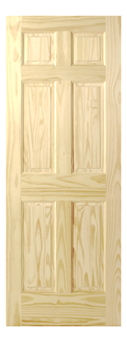 Raised Single Hip 6 Panel Pine Door