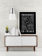 Providence College Basketball Print - PC Friars - Subway Poster