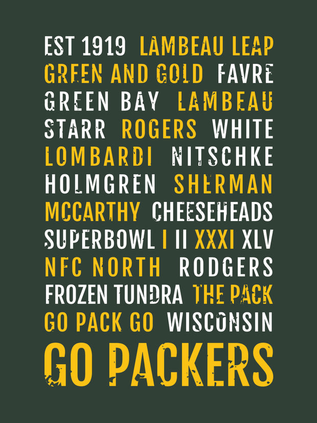 Green Bay Packers Subway Poster