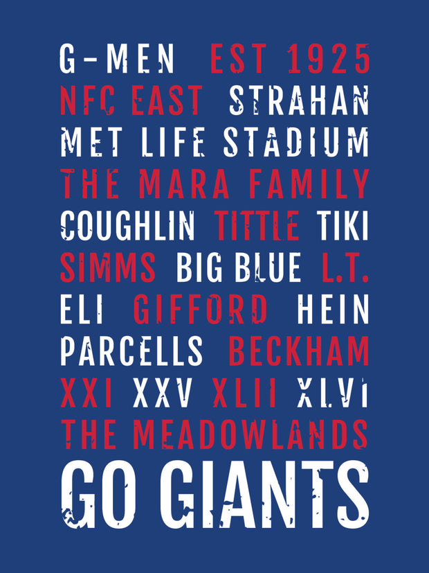 New York Giants Subway Poster