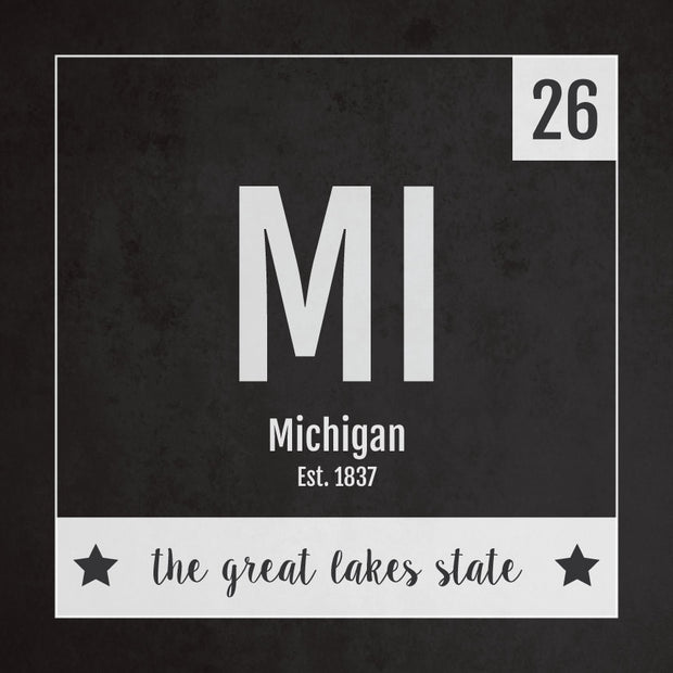 Michigan US State Print