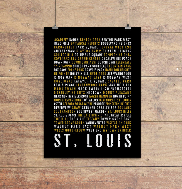 St Louis Subway Poster
