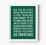 Michigan State Spartans Subway Poster