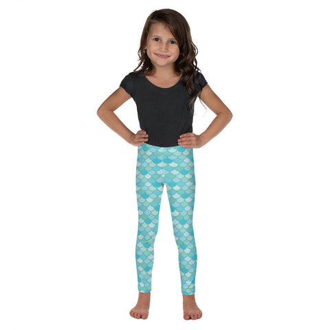Nim Aqua - Classic Mermaid Scales Leggings - Kids'