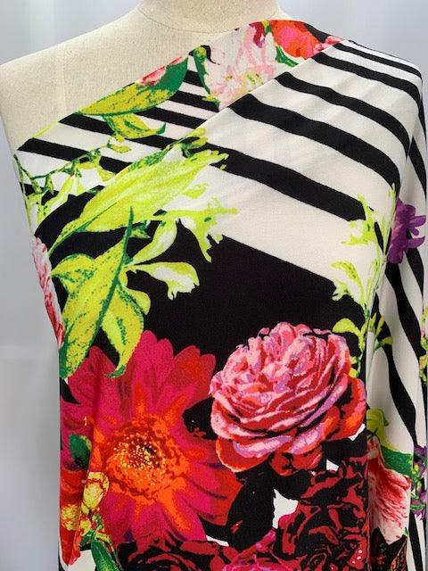 Printed Lycra - Linear Bouquet