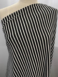Ottoman Rib - Black and White Stripe