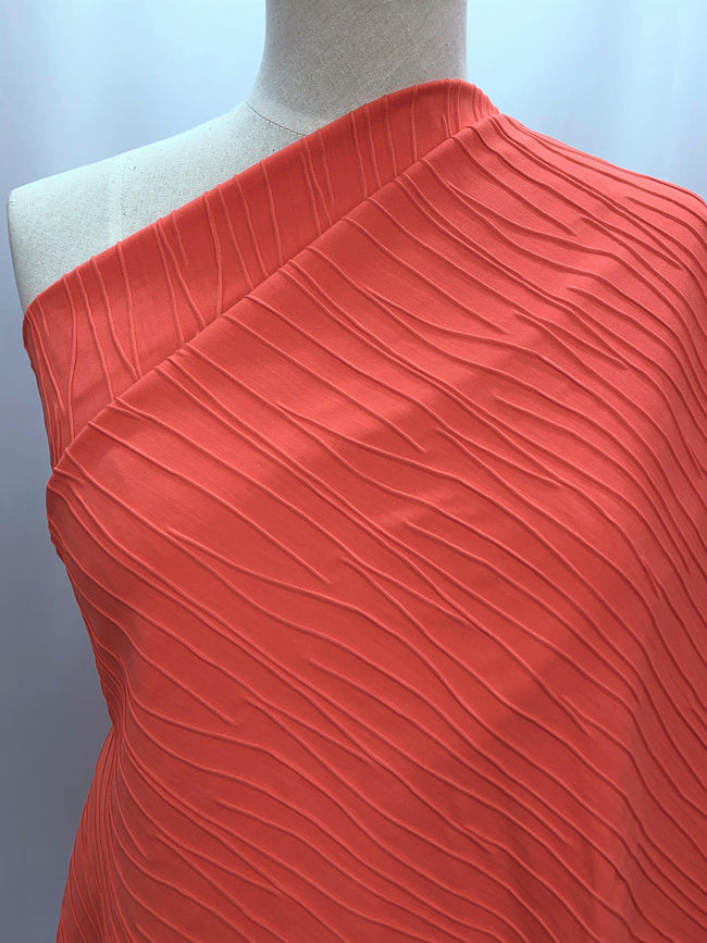 Textured Knit - Coral Flux
