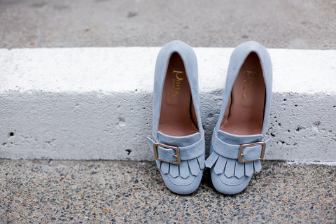 PAOLA LIGHT BLUE LOAFERS