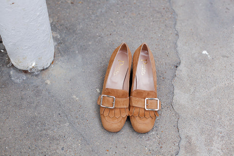 PAOLA BROWN LOAFERS