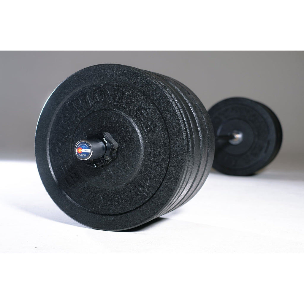 Colorado Barbell, 260 Lbs of bumpers and clips all SHIPS FREE