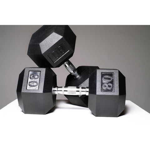 Image of Rubber Hex Dumbbells