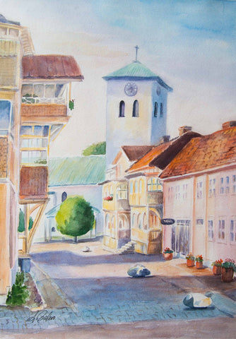 Marstrand Church - Stretched canvas