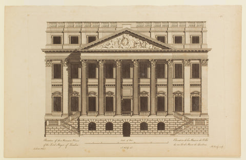 Elevation of the Mansion House of the Lord Mayor of London