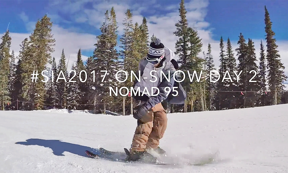 Nomad 95 In Action At SIA On-Snow Day 2, 2017
