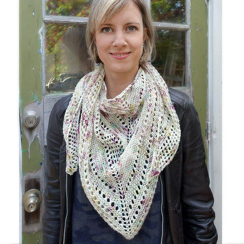 bella dean shawl {knitting pattern}-knitting pattern-The Crafty Jackalope