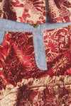 Roberto Cavalli - Vintage 2001 Fall Collection - Red and Beige 2pc Set Shirt and Skirt - S