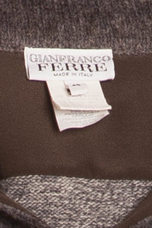 Gianfranco Ferre - Gray Sweater with Collar and Buttons - IT 48