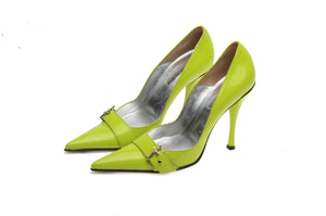 Cesare Paciotti - Lime Green Patent Heels - IT 38 1/2